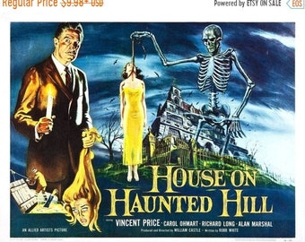 Spring Sales Event: The HOUSE On HAUNTED HILL Movie Poster 1958