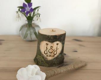Rustic pen pot, pen holder, rustic pen holder, personalised rustic hen holder, rustic personalised pen pot, initials