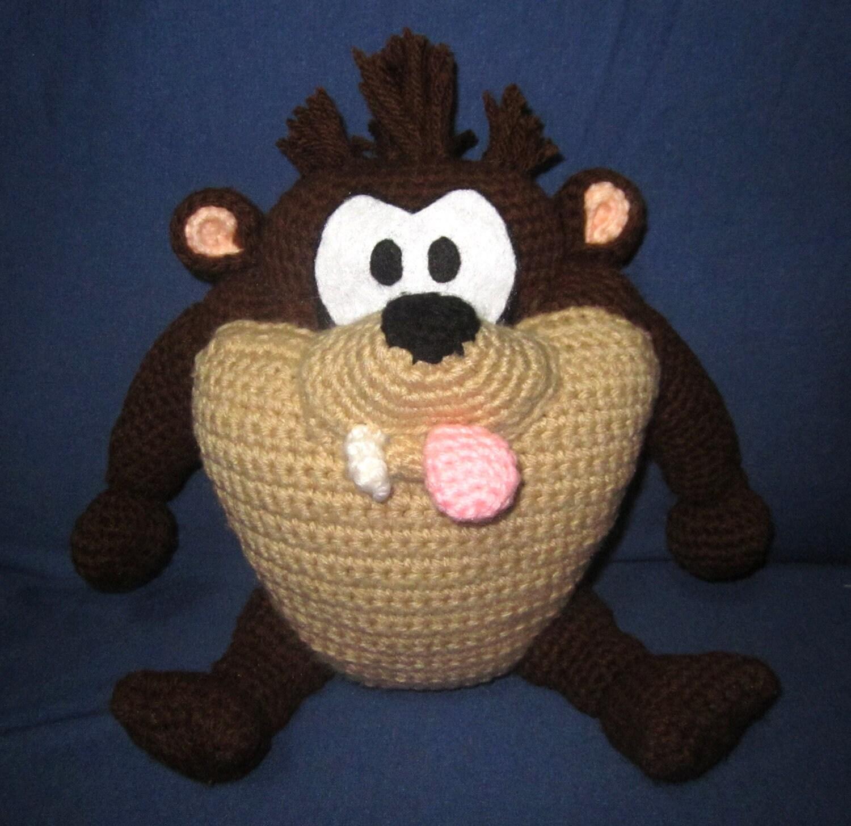 Super Lindo Amigurumi Crochet Baby Taz # Taz Muebles De Oficina