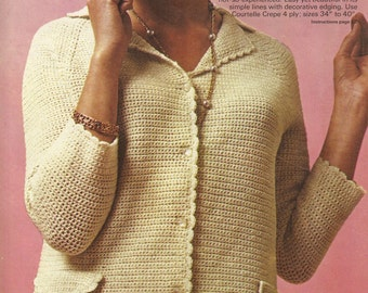 Elegant crochet suit pattern