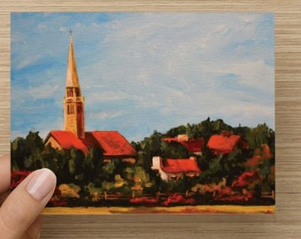 "Folded Note Card ""Inverness"""