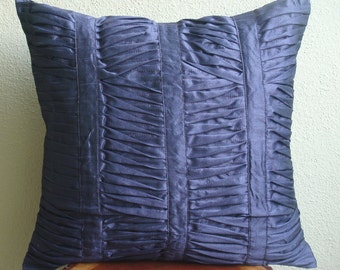 Decorative Throw Pillow Covers Couch Pillow Case Sofa Pillow Bed Pillows 16x16 Inch Silk Pillow Cover Home - Dark Blue Beauty