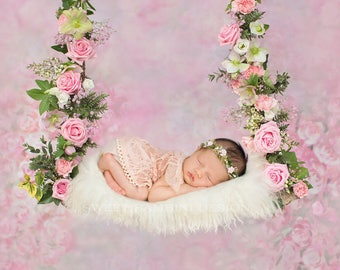 Newborn digital backdrop - Nikita swing