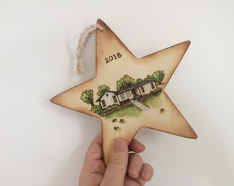 First Home Gift, Custom House Ornament, Housewarming Gift, Closing Gift, Personalized House Ornament, Realtor Gifts, New Home Ornament