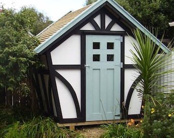 DIY Tudor-style 8x7 shed - woodworking plans