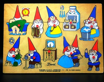 David the Gnome Wooden Puzzle - Childrens Toy