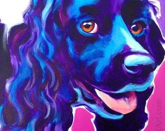 Cocker Spaniel, Pet Portrait, DawgArt, Dog Art, Pet Portrait Artist, Colorful Pet Portrait, Cocker Spaniel Art, Art Prints