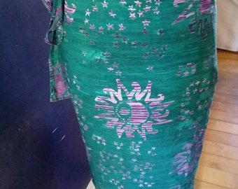 Hippie Rayon Wraparound Summer Sunshine Skirt One Size!