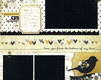 Now and Forever - Premade Scrapbook Page