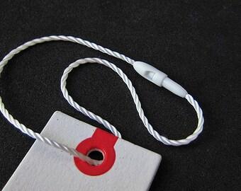 200pcs   White - HTS-B4 - Total Length 21cm - Plastic Seal Tag 【non-reusable purpose】with Nylon String