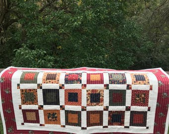 Fall Table Runner - Quilted Fall Table Runner - Quilted Table Runner - Quilted Fall Table Topper - Fall Decor - Quilted Candle Mat