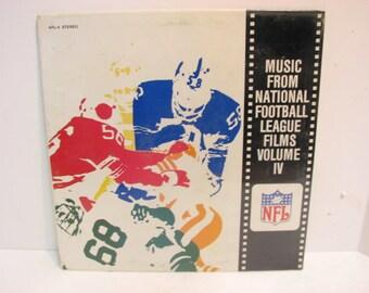 NFL Football Lp Record Music From National Football League Films Vol. IV SEALED Vintage Vinyl Lp
