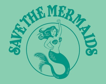 "5"" x 7"" Save the Mermaids Print"