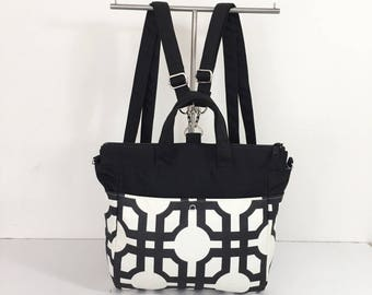 4 WAYS bag / Tote / Cross Body / Shoulder / Backpack - Groovy Grill