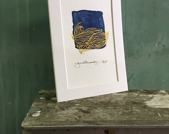 currents / original watercolor / one of a kind painting