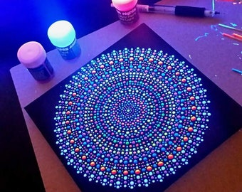 Mandala painting UV