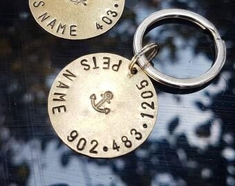 Simple Seafarer - Polished Bronze - Pet ID Tag