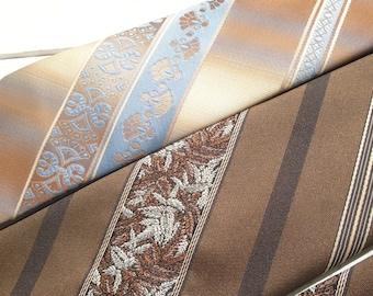 Mens Vintage Necktie Striped set of 2 Van Heusen