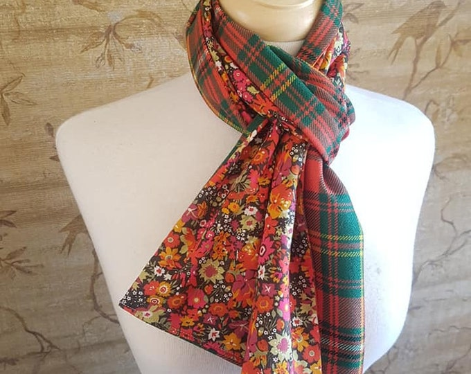 Featured listing image: Wilson tartan Long Scarf Liberty Print Lining *FREE SHIPPING*