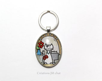 Keychain - cat dressing table