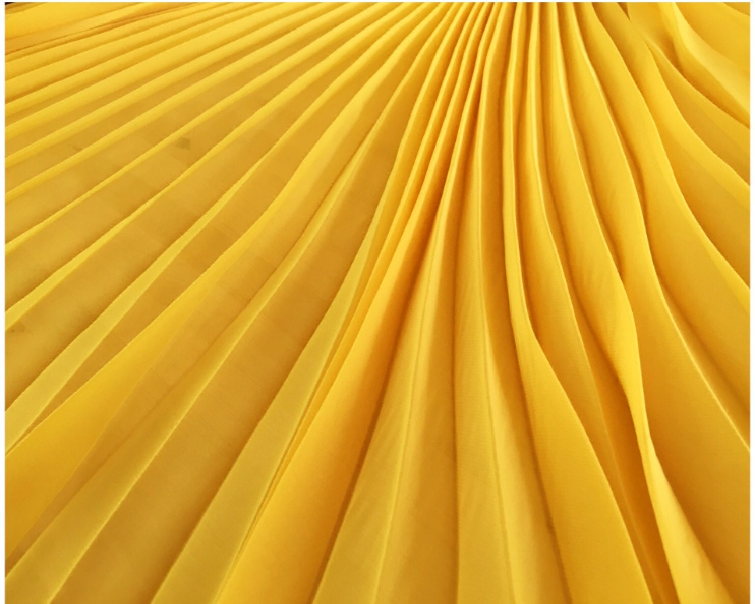 Pleated Chiffon Panel In Color Sun Yellow Solid Color