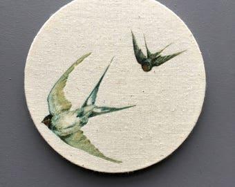 Swallow prints - circular prints - bird prints