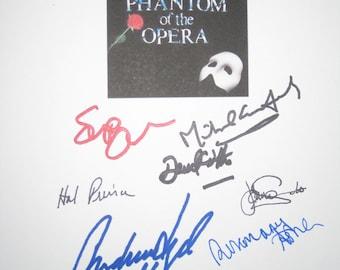 The Phantom of the Opera Musical Broadway Signed Script X9 Andrew Lloyd Webber Michael Crawford Sarah Brightman Richard Stilgoe Hal Prince