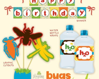 Bugs  DIY Printable birthday party pack
