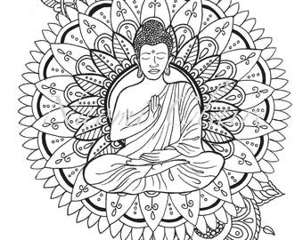 Coloring pages | Planner | Mandala | Calming | Detailed | Gift | Adult colouring pages |