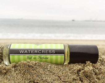 Mother's Day Gift // Roll on Perfume || WATERCRESS || Travel Perfume || vegan perfume || stainless steel tip || Free Shipping