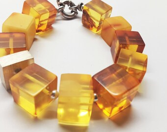 Handmade Natural Baltic amber bracelet