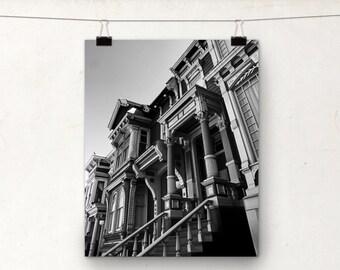 Victorian House, Black and White Photo, San Francisco Architecture