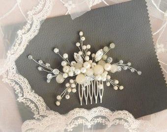 SOFT CHESTNUT | Bridal headpiece, bridal hairpiece, wedding headpiece, bridal comb, decorative comb