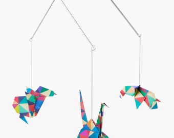 NEW!!! Baby mobile / Zoo Origami Mobile: VENISE - crib decoration - Nursery decoration - birth gift