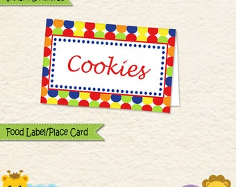 Instant Download Music Theme Food Label • Music Food Tent • Music Party Decorations • Sticker label • Allergy Card  • Place Card • 014C1