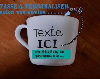 Customizable cup or mug