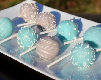 Light Blue & Gray Signature Cake Pops