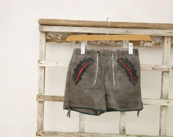 Vintage Lederhosen Boys Lederhosen 1960s Suede Shorts Boys Age 6 to 7 Traditional Shorts German Austrian Boys 1960s Trachten