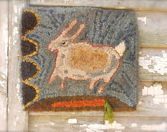 Quick as a Bunny - Rug Hooking Pattern - Linen or Paper - from ©Notforgotten Farm