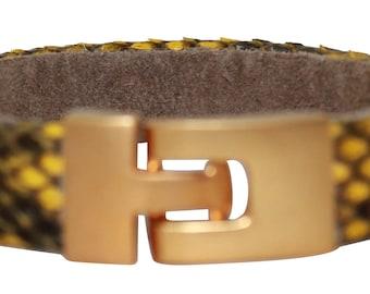 Python Bracelet, Python Cuff, BAJ 496 G Yellow