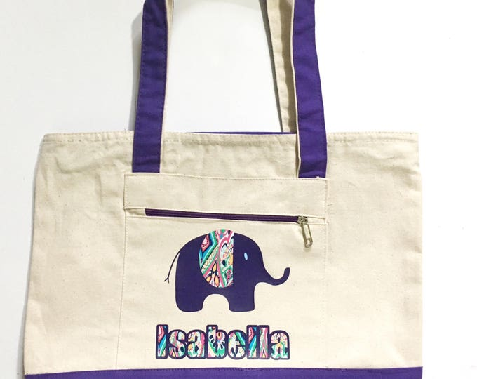 Bags totespurses elainescrafts diaper bag elephant diaper bag personalized diaper bag baby tote canvas diaper negle