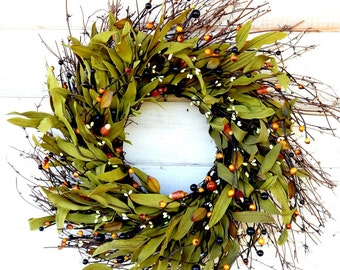 Fall Wreath-FALL TWIG Door Wreath-Autumn Wreath-Rustic Wreath-Fall Home Decor-Scented Pumpkin Spice-Fall Wreaths-Custom Made Wreaths-