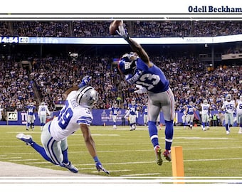 Catch By Giants Reciever Odell Beckham Jr. Commemorative Game Poster