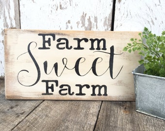 Rustic Wood Sign - Farm Sign - Rustic Home Decor - Rustic Decor - Wooden Wall Hanging - Hand Painted Wood Sign - Farm House Sign - Wood Sign