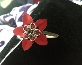 Small Scale Flower Hair Clip