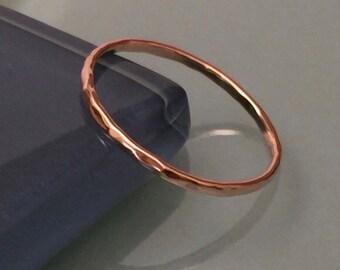 14k Stack Rings, 14k Rose Gold Ring, 14k Wedding Band, 14k Rose Gold band, 14k Pink Gold Ring, 14k thumb ring, 14k yellow gold band ring