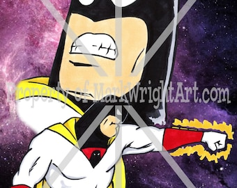 "Space Ghost 11"" x 17"" Orig. Art Print by Mark Wright - Coast To Coast"