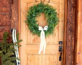 Winter Wreath-FERN Wreath-Wedding Wreath-Fern Door Wreath-Holiday Wreath-Scented Wreath-Garden Wedding Decor-Outdoor Wreath-Holiday Gifts