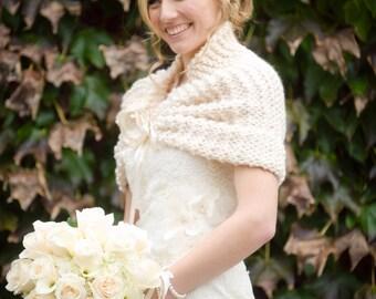 Wedding Shawl/Bridal Shawl/Fall Wedding/Summer Wedding/Ivory Shawl/Winter Wedding/Bridal Cape /Ivory Shrug/Bridal Wrap/Summer Wedding