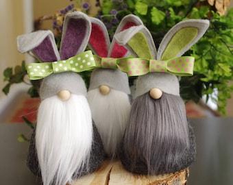 LAPIN chéri Gnome, Gnome nordique, scandinaves Gnomes, printemps, Gnome cadeaux, cadeaux de Pâques, panier de Pâques, lapins, Gnomes de Pâques